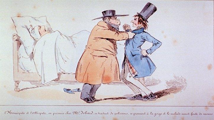 Henry-Monnier-Allopath-vs-Homeopath-cartoon-1830s-US-NLM