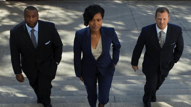 # attorneys walking upstairs