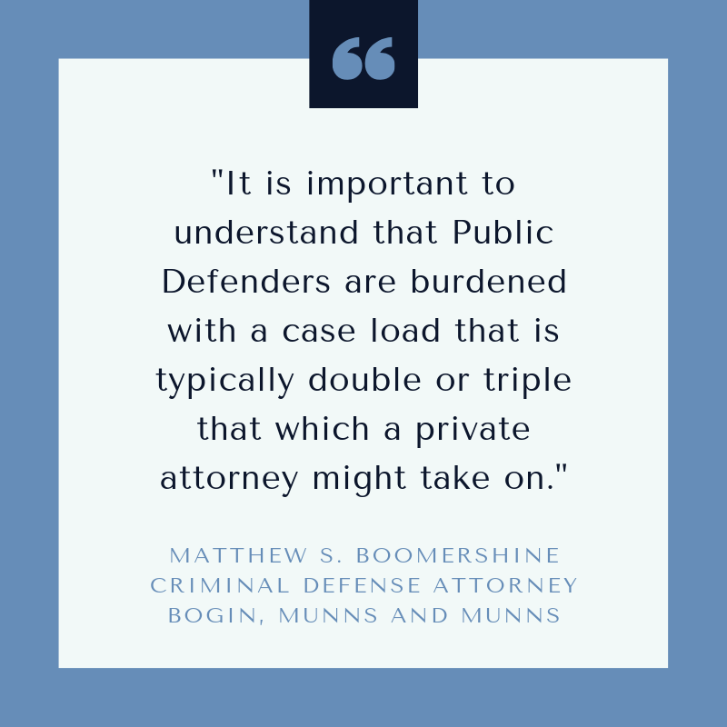 Public defenders are burdened with case work