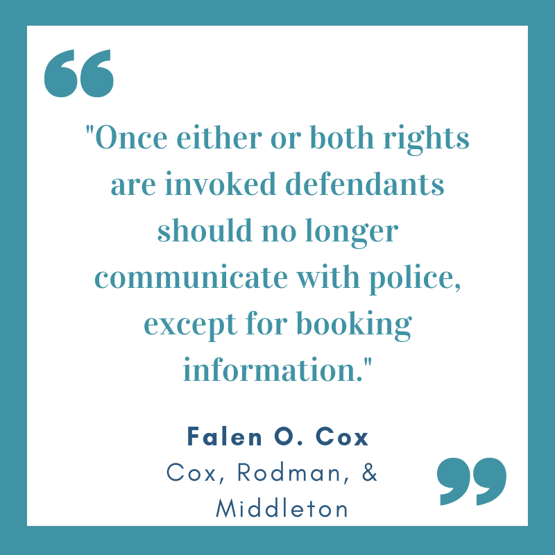 Once you invoke rights no longer communicate with police