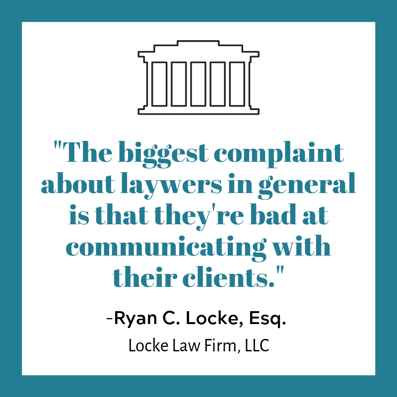 Lawyers communicatin with clients