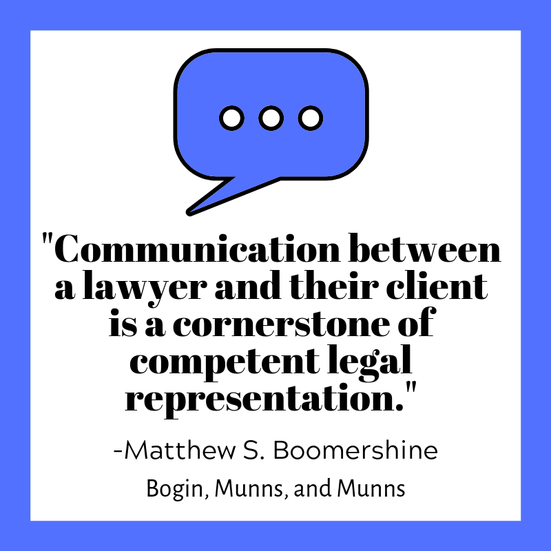 Communication between a lawyer and their client is a cornerstone