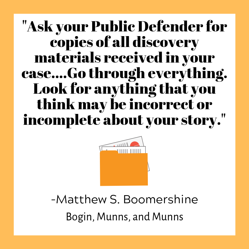 Get copires of court records from your public defender