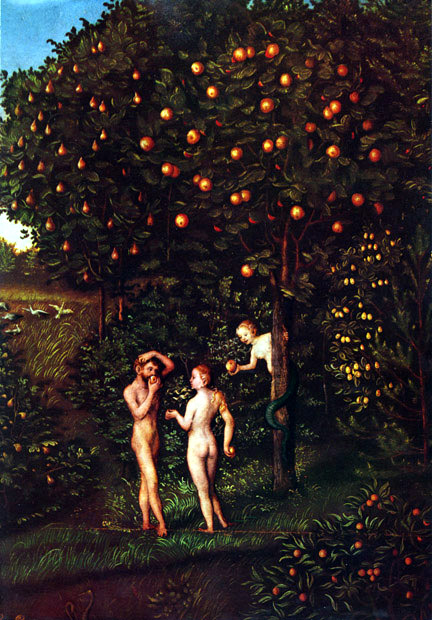 The Oldest lawn, Adam and Eve at the Apple Tree