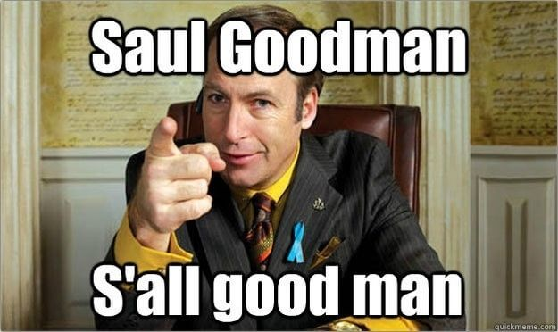 Courtroom meme  When you hire a lawyer, the one thing you want is an attorney that tells you that everything is going to be good.