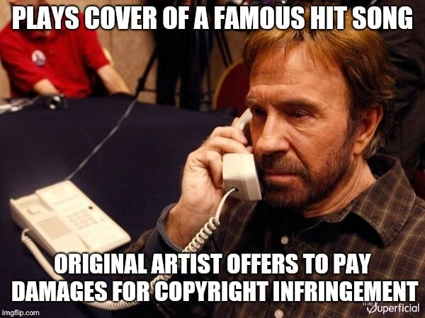 Legal Meme  Look, no one can touch Chuck Norris. Only a fool would try. This legal meme should serve as a warning to anyone looking to come after Chuck Norris for a Copyright violation.