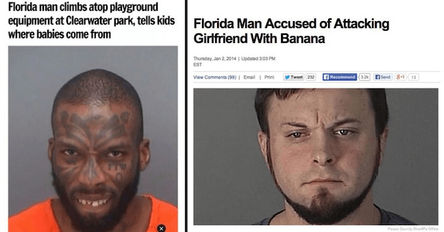 Category: Jail Meme Florida men strike again with these very interesting headlines. I wonder where they get all of their creativity crime-wise?