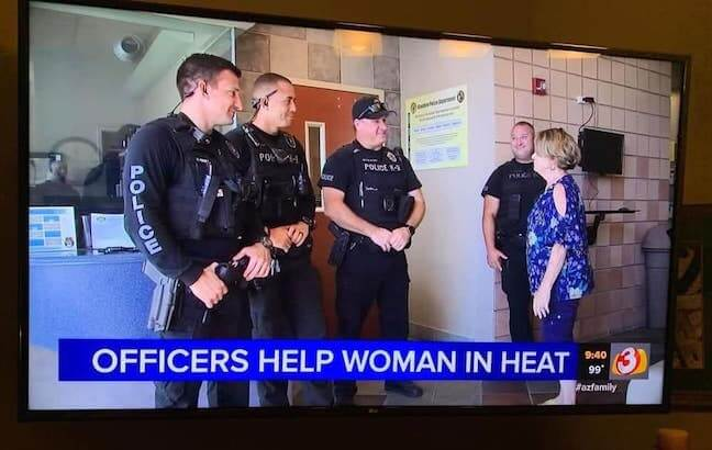 Category: Police Meme When a woman is in heat, she definitely needs help. Thank goodness these 4 officers were there to save the day! Seriously, who let this happen?!