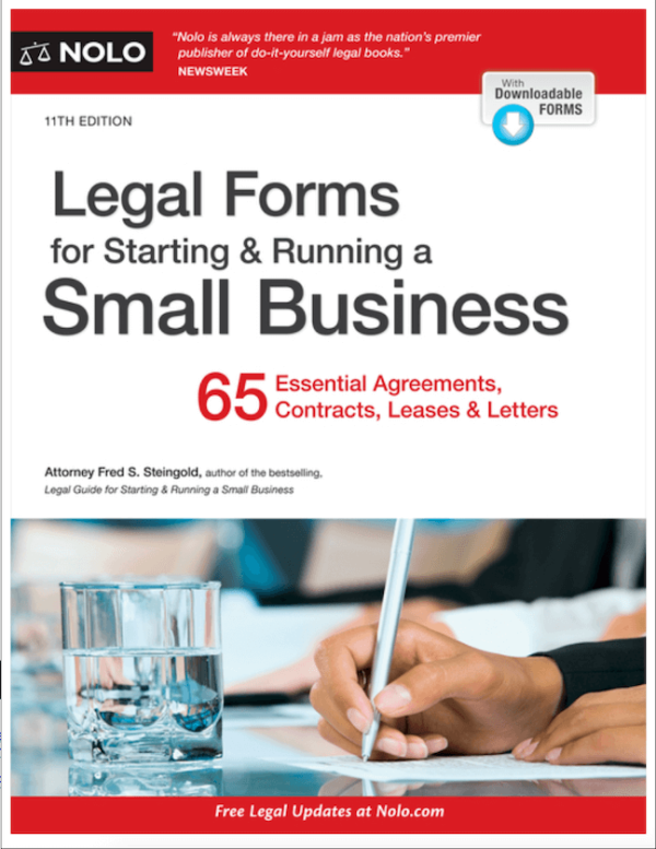 Legal forms book by Nolo