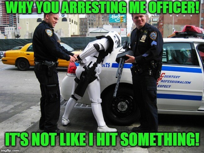 Category: Police Meme Getting arrested is the least of his worries. What's he going to do if he gets into a jail fight and he still can't hit anything?