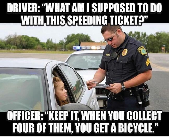 Category: Officer Meme Despite the fun joke in this meme, I can't help but think about how many times that joke is used. Especially because I can only imagine how many times a day that question is asked.