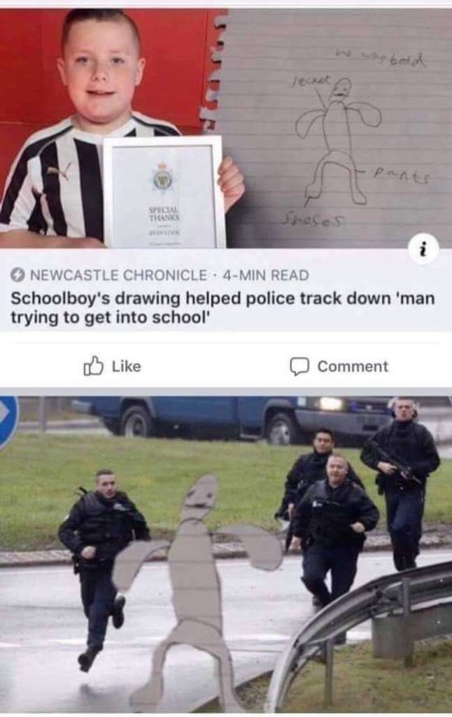 Category: Police Meme We should all be proud of this schoolboy for doing his local police a favor. He had nothing but the best intentions and that's really what matters, honestly.