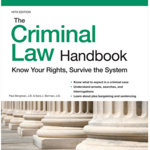 Criminal Law Handbook by Nolo