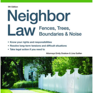 Neighbor Law book by nolo