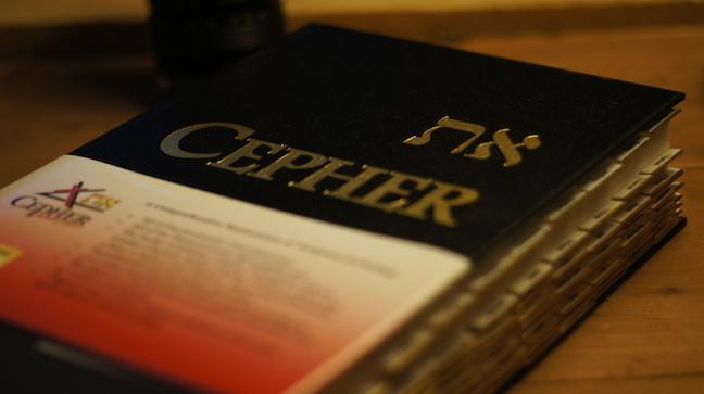 eth-Cepher Bible Close Up